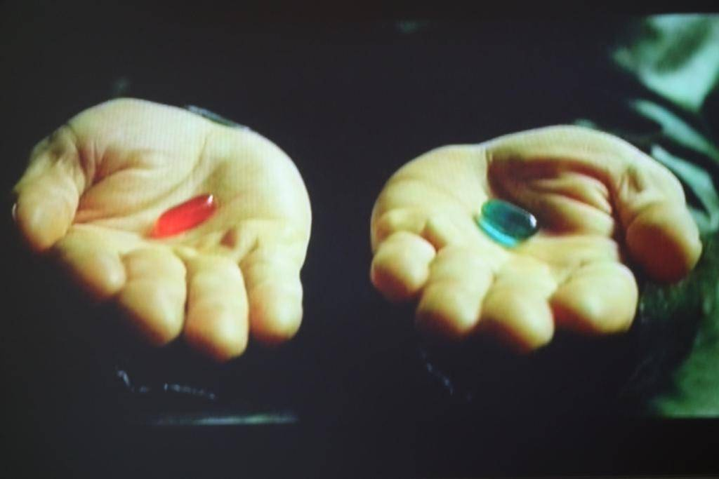 blaue-rote Pille komp